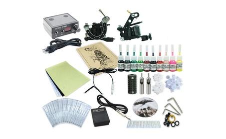 Complete Tattoo Kit 2 Machine Guns Equipment Power Supply 10 Ink Color 9ac2857f-6f94-4eab-912f-b14d30891e7f