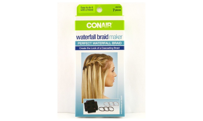 Conair Waterfall Braid Maker 7 Piece Kit