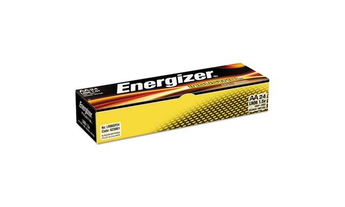 Energizer Industrial Alkaline Batteries, AA, 24 BatteriesBox
