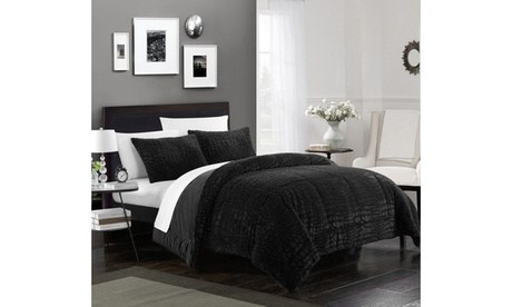 Dundee 3 or 7 Piece Comforter Set Faux Fur Micro Mink Hypoallergenic Bedding f7918a4c-878d-41b0-a42b-ee9fb3af9038