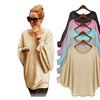 Women Blouse Fall Women Oversized Batwing Pullover Loose T shirt