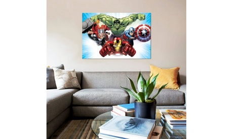 Avengers - Iron Man, Thor, Hulk And Captain America Flying by Marvel Comics 367b4c2e-2725-4412-9827-0c457c655b41