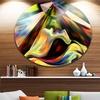 Origin of Imagination' Abstract Metal Circle Wall Art