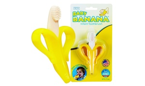 Infant Training Toothbrush and Teether - Yellow Banana