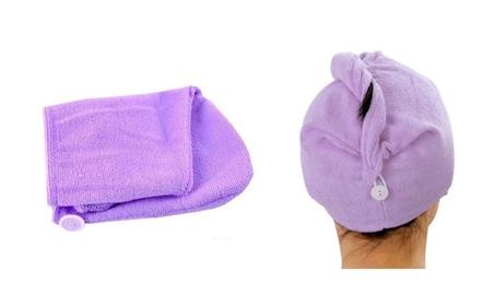 Microfiber Absorbent Hair Drying Turbans 4-Pack 65ec967a-1fb0-4de3-9b2e-9be1973cfc7f