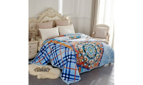 Luxury Heavy Thick Plush Blanket 8.3-10lbs Christmas Gift Queen/King Size