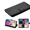 Insten Rose Folio Leather Fabric Case w/stand/card slot For iPhone X