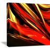 Fire Lines Red - Large Abstract Canvas Art Print