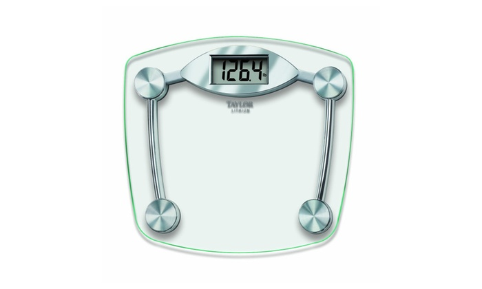 Taylor Gl And Chrome Digital Bathroom Scale 400 Lb Capacity