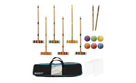 Maggift Six Player Croquet Set with Carrying Bag, 26-Inch b1ee3feb-c30a-46a4-b4d3-4a10d1134b4b