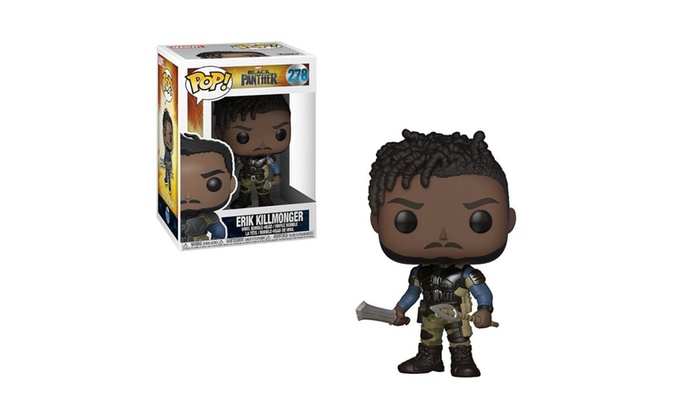 Black Panther Erik Killmonger Styles May Vary Collectible Figure New Funko POP