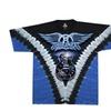Official Licensed Aerosmith Logo Guitar V-dye Tie Dye T-shirt 2 Sided
