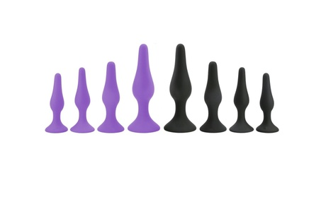 Sexy Toys 4 PCS Anal Plug Set Medical Silicone Adult Sex Toys b1f79e25-35fb-40cb-8434-d7f11393dbca