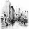 Black and White City - Cityscape Canvas Art