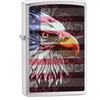 Zippo American Eagle and Flag Pocket Lighter, Brushed Chrome 28652