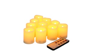 Candle Choice Remote-Controlled Flameless Votive Candles Set (10-Pc.)