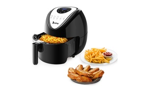 5.6 Quart Healthy Fried Food Power Digital Air Fryer With Food Clip at Wmart, plus 6.0% Cash Back from Ebates.