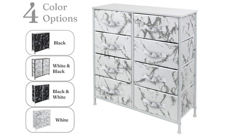 Sorbus Dresser w/ 8 Drawers - Bedroom Chest Furniture Tower - Marble Collection