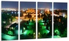 Lighted Montreal City at Night - Cityscape Photo Metal Wall Art