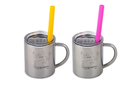 Housavvy Rabbit Stainless Steel Kids Cups with Lids and Straws, 2 Pack 2eed7e20-ea19-46e4-aa41-2019c7220202