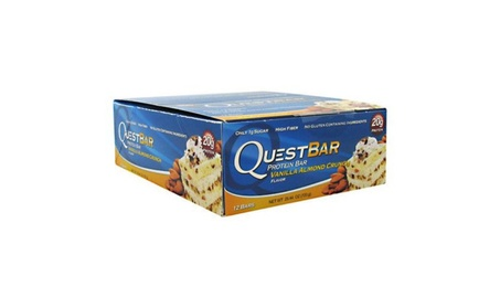 Quest Nutrition 6340038 Quest Bar Vanilla Almond Crunch, 12 Per Box