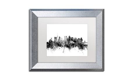 Michael Tompsett 'Tokyo Japan Skyline B' Silver Framed Art b2afad74-ed9e-4fb8-96d2-3331706b4929