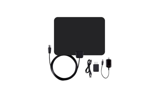 HDTV Antenna 50 Mile Ultra-Thin Flat Digital Indoor bbb4191d-39ca-4fe9-b3dd-f051aab75f46