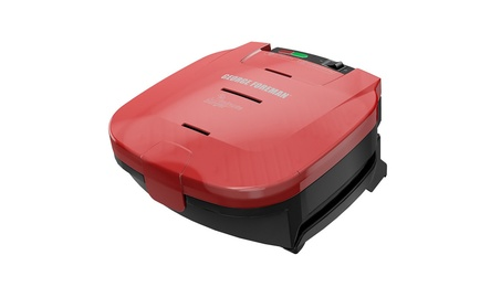 George Foreman 5-Minute Burger Grill, Red