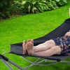 Pure Garden Portable Hammock with Stand and Carry Bag