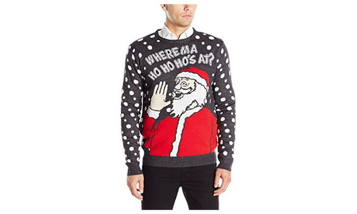 36cc653f Men's Where Ma Ho Ho Ho's At Ugly Christmas Sweater | Groupon