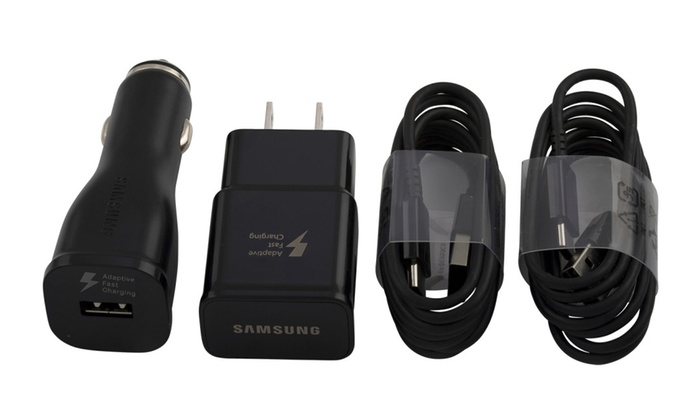 Save 76% on Samsung Fast Adaptive TYPE-C Charger Combo! Wall, Car , 2 USB C Cables