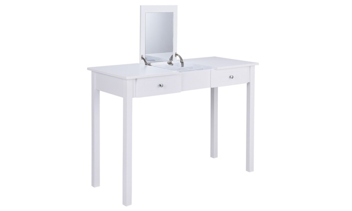 Up To 32 Off On Makeup Vanity Table Whitedre Groupon Goods