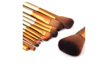 Vander 12pcs Brown Wooden Professional Comestic Makeup Brushes Set adaff95a-2f5b-433f-824d-bc161b612153