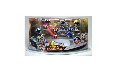 Power Rangers Super Samurai PVC Figures Set Samurai Smash Rangers 834f4f93-2b7c-4b26-be35-cd9f63ed722c