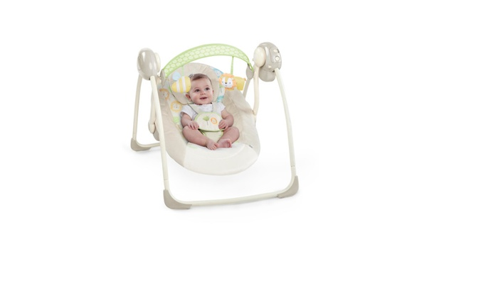 Ingenuity Soothe \'n Delight Portable Swing Sunny Snuggles | Groupon