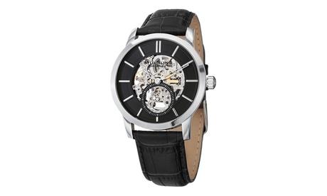 Stuhrling Original Men's Mechanical Skeletonized Genuine Leather Strap Watch 7a5d0dba-f53a-4b5a-9745-a47c7eaec13a