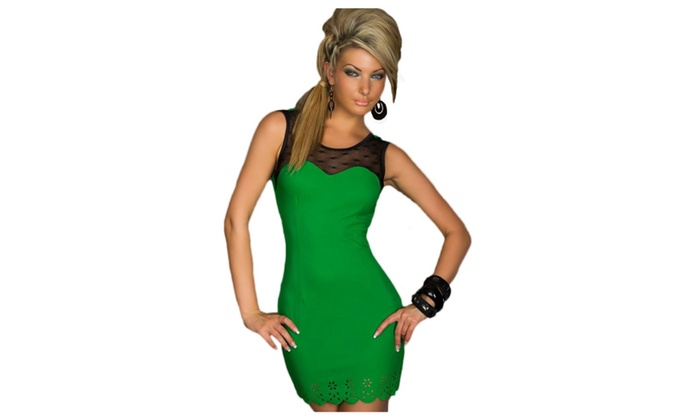 Women's Trendy Sweetheart Bodycon Dress Green – Green / one size