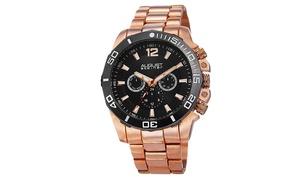 August Steiner Men's Swiss Multifunction Bracelet Watch ASGP8113