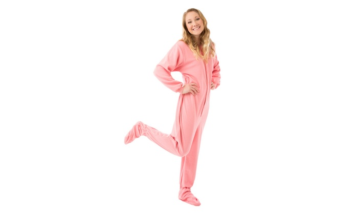 Pink Fleece Adult Onesie Footed Pajamas  8bb669a30