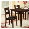 Vennesla 5 Piece Dining Set in Dark Brown Finish