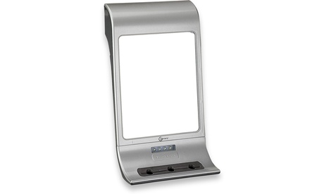 LED Lighted Shower Mirror with Accessory Holder