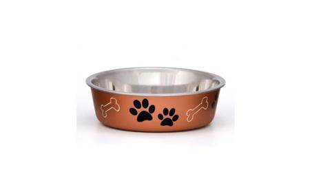 Dog Puppy Designer Bowl Stainless Steel Non Skid Bella 857f5c72-0ccb-4e42-b40c-8aedb78796b1