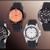 Calibre Men's Akron Quartz Rubber Strap Watch