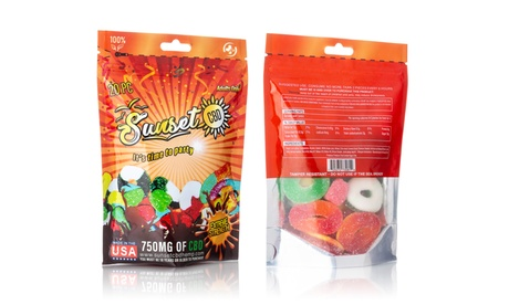 Organic CBD-Infused 750mg Gummies (1- or 2-Pack) from Sunset CBD