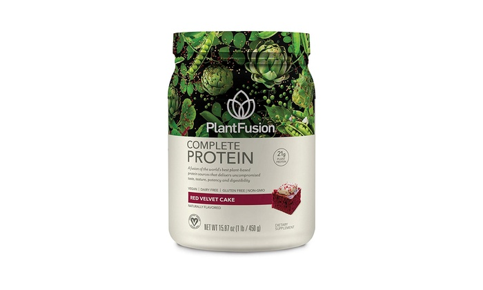 PlantFusion Complete Plant-Based Protein Powder, Red Velvet, 1 Pound