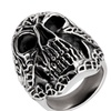 Men's Stainless Steel Celtic Skull Cast Ring