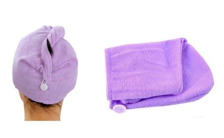 4-Pack Absorbent Microfiber Hair Drying Turbans Ideal after Shower 1797a56b-a30a-4a4f-b454-13e6458808d3