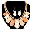 Geometric Multilayer Statement Jewelry Women's Set