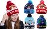 LED Light Up Beanie Hat Christmas Cap Unisex Winter Snow Hat
