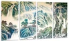 Groupon Goods: Blue Chinese Landscape Painting - Floral Metal Wall Art